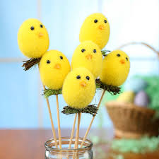 fuzzy easter fuzzy easter picks picks and stems floral supplies