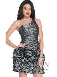 vintage seller one shoulder silver mini ball gown taffeta