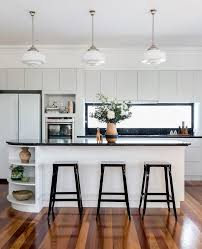 Kitchen Furniture Brisbane Brisbane Curved Bulkhead Kitchen Craftsman With Frosted Glass
