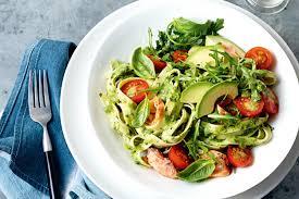 pasta recepies avocado pesto pasta with smoked salmon