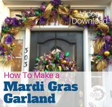 mardi gras deco mesh how to make a deco mesh mardi gras garland southern charm wreaths