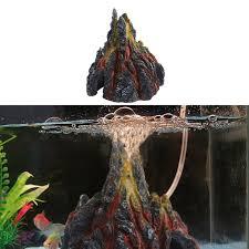 aquarium volcano shape air oxygen fish tank