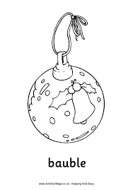 decorations colouring pages