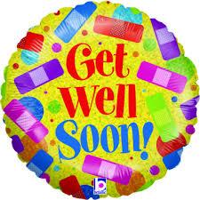get well soon and balloons get well soon balloon amanda janes hemel hempstead