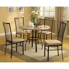 dining acme furniture darell 5 piece dining set breakfast nook