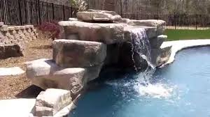 charlotte swimming pool small grotto pool waterfall youtube
