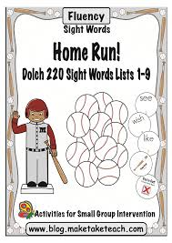 sight word games for our little baseball fans make take u0026 teach