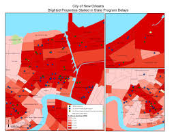 New Orleans State Map by Blighted Properties Stalled In State Program Delays Greater New