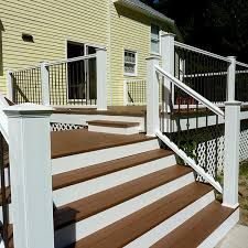 deckorators cxt colonial railing in white with classic aluminum