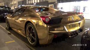 gold ferrari 458 italia gold ferrari 458 spider crazy pimped up supercar in london youtube