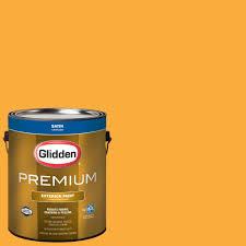 glidden premium 1 gal satin latex exterior paint gl6911 01 the