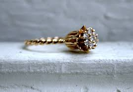 antique gold engagement rings yellow gold engagement ring vintage