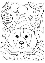 printable 12 lisa frank dog coloring pages 6612 dog coloring