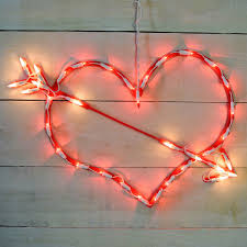 valentines day lights heart lighted sculpture 35 lights