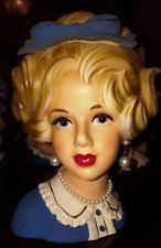 Vintage Lady Head Vases Inarco Head Vase Other Headvases Ebay