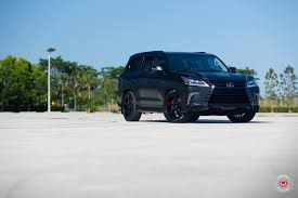 lexus ls suv used lexus lx 570 gets murdered out look and vossen wheels autoevolution