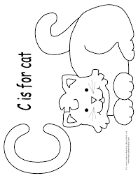 c is for cat coloring page omeletta me