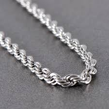 stainless steel rope necklace images Long stainless steel rope chain necklace n0902 tungsten avenue jpg
