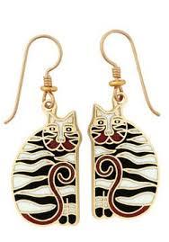 laurel burch earrings charles cat earrings by laurel burch dangle earrings