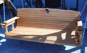 build a log porch swing