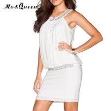 moqueen white summer dresses women halter chiffon fashion casual