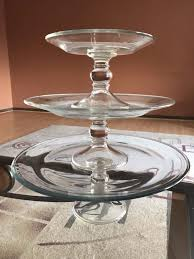 tiered serving stand 3 glass tiered serving stand household in chicago il