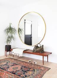 Persian Furniture Store In Los Angeles Midcentury Modern Meets Bohemian Entryway With A Slatted Bench