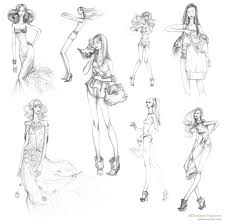 fashion girls sketches 2010 by lanitta on deviantart