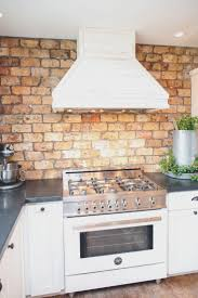 faux kitchen backsplash kitchen kitchen with brick backsplash awesome kitchen backsplashes