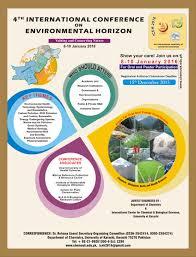4th international conference on environmental horizon chemistry