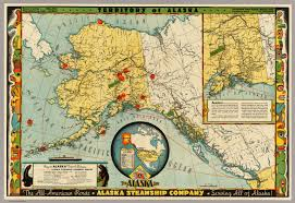 Alaska On A Map by Territory Of Alaska David Rumsey Historical Map Collection