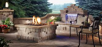 exterior pave patio with gas fire pit paver patio with gas fire