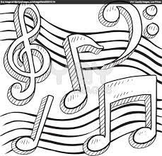 royalty free vector of music notes vector border or background