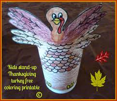 make it easy crafts kid u0027s coloring stand up thanksgiving turkey