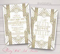 great gatsby digital printable invitation template black and