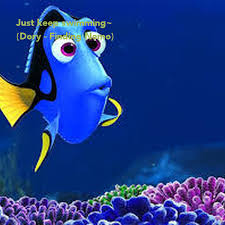 Blank Keep Calm Meme - just keep swimming dory finding nemo poster faye keep calm