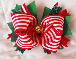 christmas hair bows 20 best images about bows on thanksgiving vintage