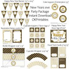new years party package instant printable new year party package 2016 diy