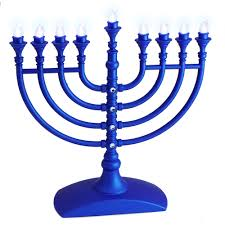 menorah candle holder hanukkah gift battery operated hanukkah menorah in blue