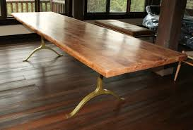 Solid Wood Dining Table And Gold Metal Brass Dining Table Legs - Best wood for kitchen table