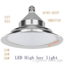 high bay light fixtures 2018 indoor warehouse led high bay light fixture 24w 36w 50w 110v