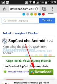sopcast for android to football on sopcast android