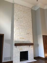 painted river rock fireplace fireplace ideas to steal stones