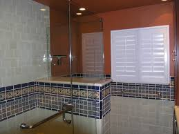 mexican tile border shower area mexican home decor gallery