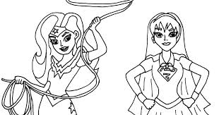 free printable super hero coloring pages woman