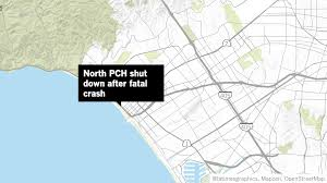 Pacific Coast Highway Map Northbound Pch Closed In Santa Monica After Man Is Struck And