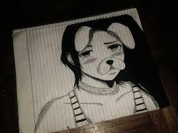 anime snapchat sketch by kurunomibreak on deviantart