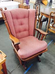 Rocking Chair Covers For Nursery Vintage Tell City Glider Rocker Chair With Original Cushions And