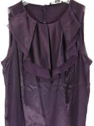 purple silk blouse vince purple silk blouse neckline ruffles sleeveless top blouse