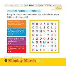 365 big word puzzles 2017 desk calendar 9780761188735